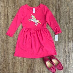 Carter's Pink Dress unicorn 5T
